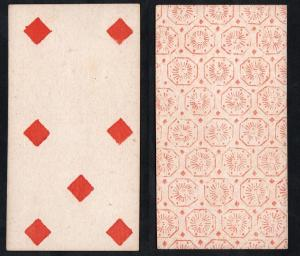(Karo 7) - Original 18th century playing card from Liege (by Dubois) / carte a jouer / Spielkarte - Tarot