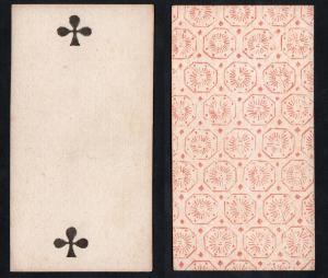 (Kreuz 2) - Original 18th century playing card from Liege (by Dubois) / carte a jouer / Spielkarte - Tarot