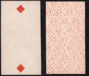 (Karo 2) - Original 18th century playing card from Liege (by Dubois) / carte a jouer / Spielkarte - Tarot