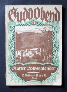 Guda Abend Glatzer Volkskalender. Heimatliches Jahrbuch für die Grafschaft Glatz und ihre Nachbargebiete.