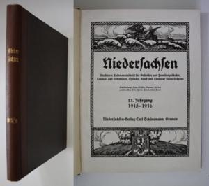 Niedersachsen. Illustrierte Halbmonatsschrift für Geschichte und Familiengeschichte, Landes- und Volkskunde, S