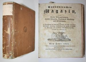 Hannoversches Magazin worin kleine Abhandlungen, einzelne Gedanken, Nachrichten, Vorschläge und Erfahrungen, w