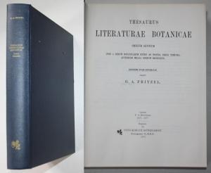Thesaurus Literaturae Botanicae Omnium Gentium Inde a Rerum Botanicarum Initiis ad Nostra usque Tempora. Qinde