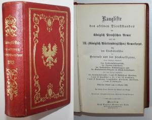 Rangliste des Aktiven Dienststandes der Königlichen Preussischen Armee und des XIII. (Königlich Württembergisc