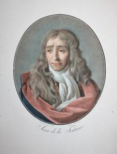 Jean de la Fontaine - Jean de La Fontaine (1621-1695) Schriftsteller writer ecrivain poet fabulist poete Dicht