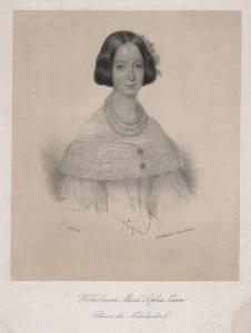 Wilhelmina Maria, Sophia, Louisa. - Princess Sophie of the Netherlands (1824-1897) Prinzessin Niederlande Port