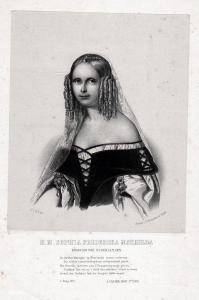 H. M. Sophia Frederika Mathilda - Sophie van Württemberg (1818-1877) Königin Niederlande Portrait