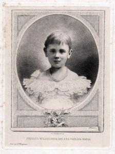Prinses Wilhelmina Helena Paulina Maria - Wilhelmine der Niederlanden (1880-1962) Niederlande Netherlands Quee