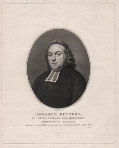 Abraham Rutgers -  Abraham Rutgers (1751-1809) Haarlem pastor Theologe Portrait
