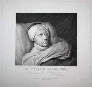 Mr. Willem Bilderdijk - Willem Bilderdijk (1756-1831) Dutch poet Haarlem Dichter Amsterdam author Portrait