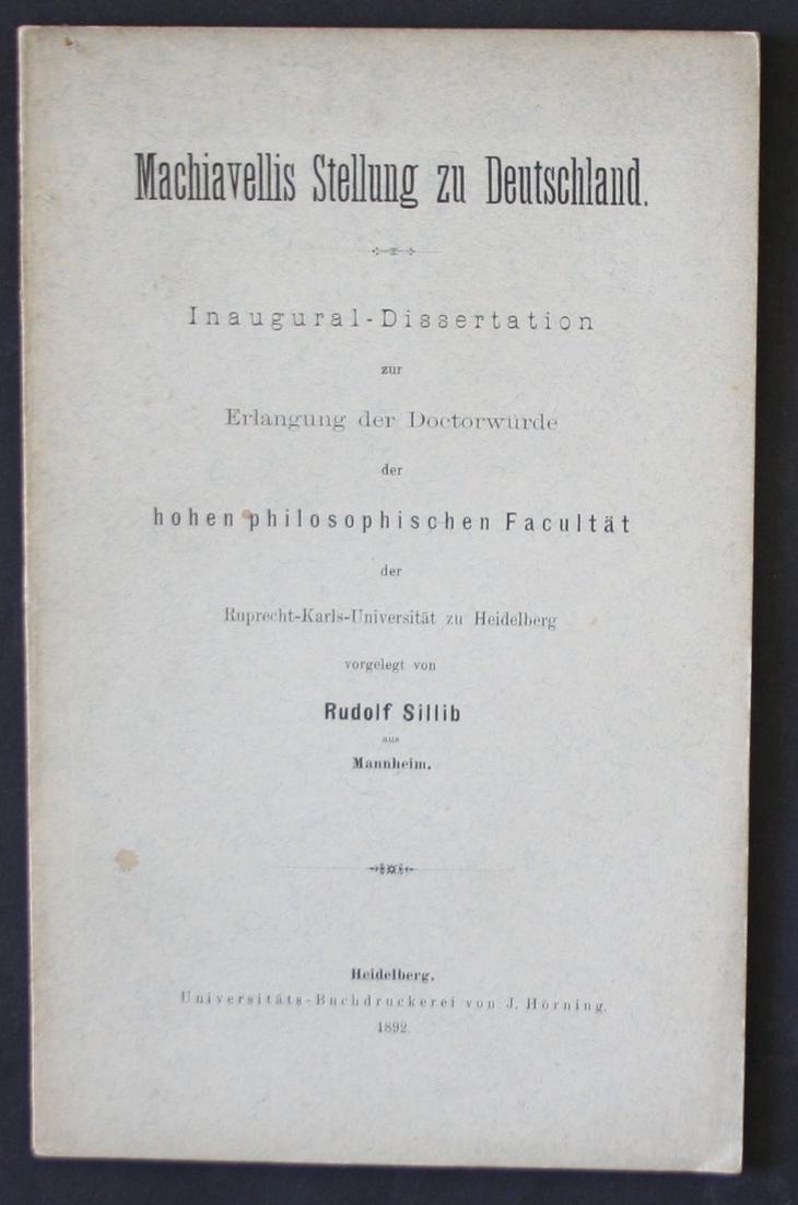 Dissertation machiavelli