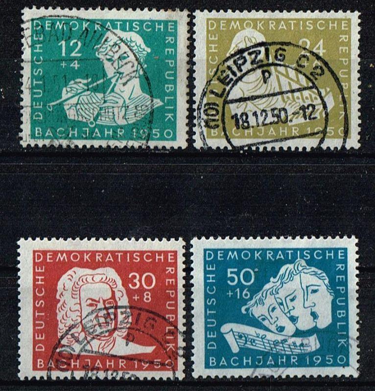 DDR Mi.Nr.256-59 gestempelt Johann Sebastian Bach Michelwert 40 Euro
