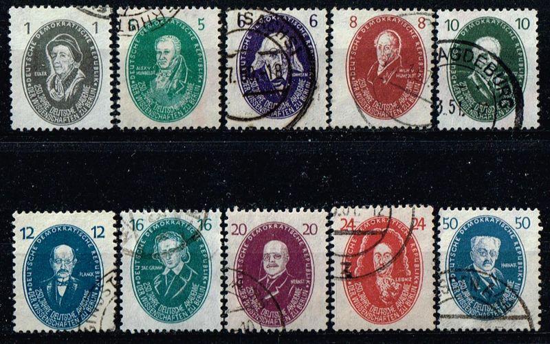 DDR Mi.Nr.261-70 gestempelt Akademie der Wissenschaften Michelwert 85 Euro