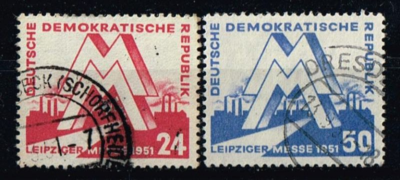 DDR Mi.Nr.282-83 gestempelt Frühjahrsmesse Leipzig Michelwert 24 Euro