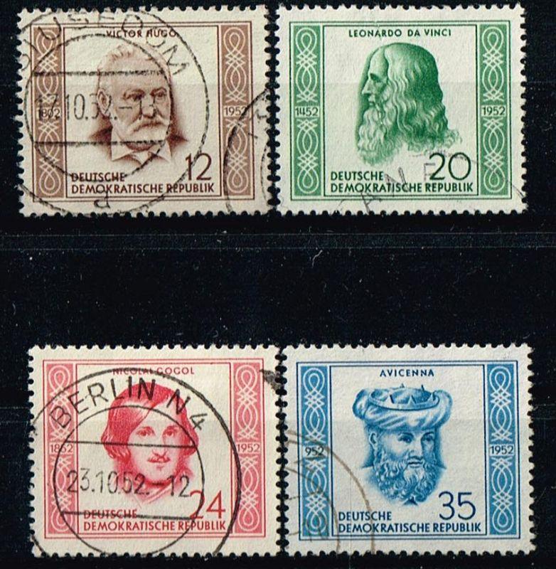 DDR Mi.Nr.311-14 gestempelt berühmte Männer Michelwert 20 Euro