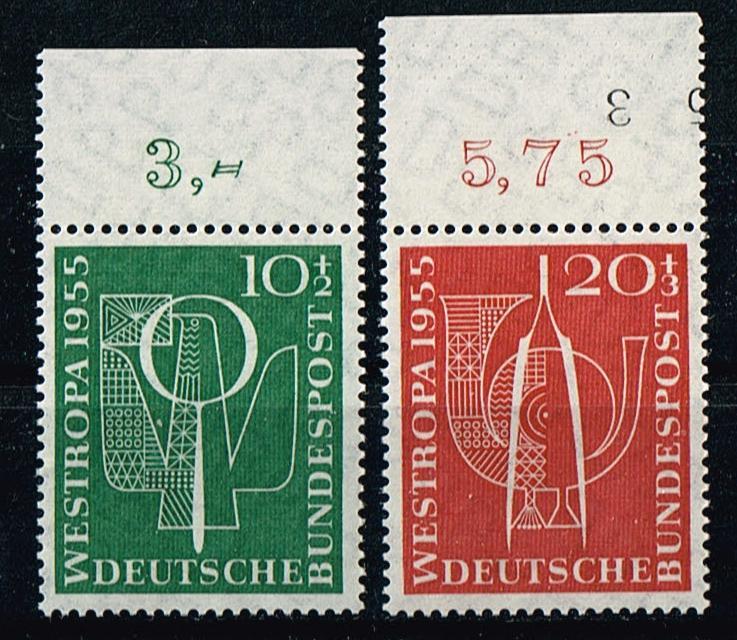 BRD Mi.Nr.217-18**postfrisch Briefmarkenausstellung Düsseldorf Michelwert 17 Euro