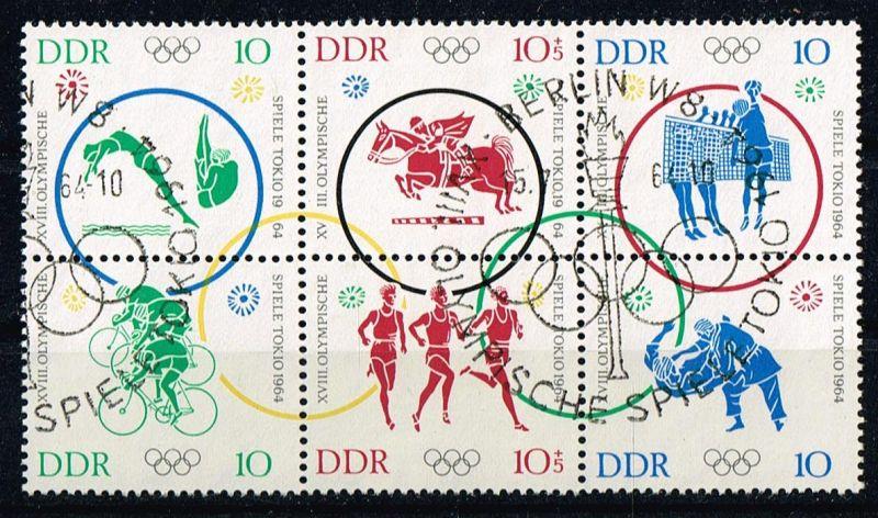 DDR Mi.Nr.1039-44ZD gestempelt Olympiade Tokio 1964 Michelwert 30 Euro