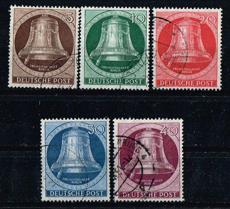 Berlin Mi.Nr.75-79 gestempelt Freiheitsglocke Klöppel links Michelwert 200 Euro