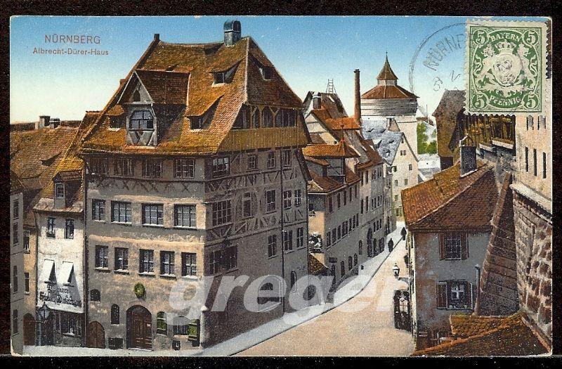 AK Deutsches Reich v. 1920 Nürnberg-Dürerhaus    3/33