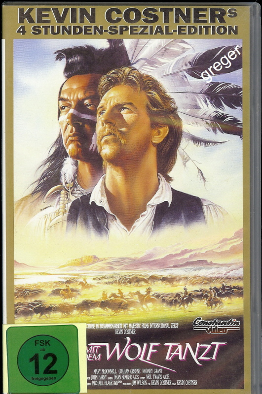 VHS Video Film- Der mit dem Wolf tanzt - 27
