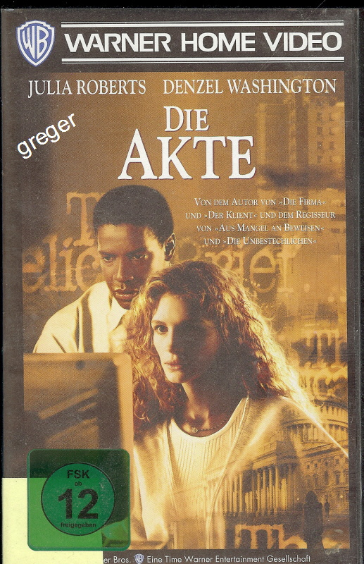 VHS Video Film- Die Akte - 33