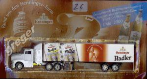 Bier-Werbetruck-LKW-Biertruck Henninger Radler    .Nr.26