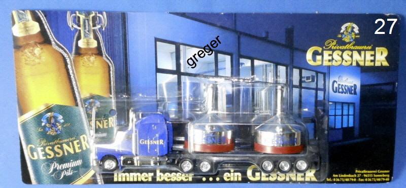 Bier-Werbetruck-LKW-Biertruck Gessner Auflieger     .Nr.27