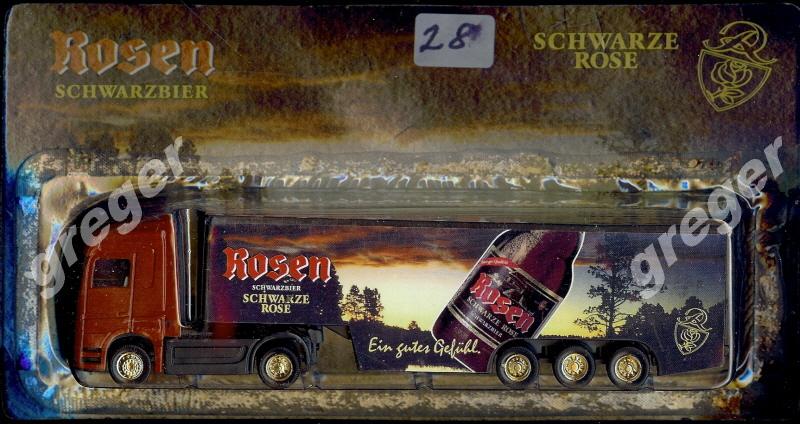 Bier-Werbetruck-LKW-Biertruck Rosen Schwarzbier     .Nr.28