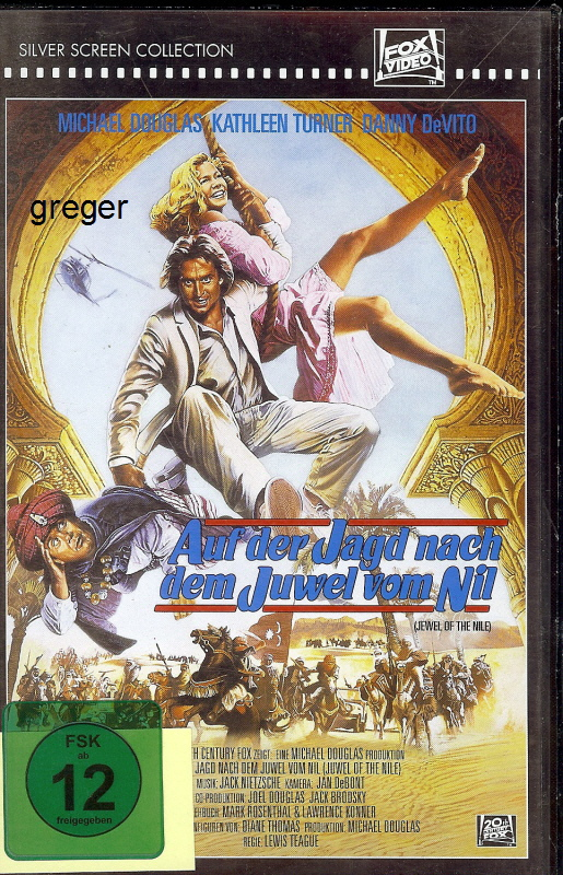 VHS Video Film- Auf der Jagd nach dem Juwel vom Nil    36