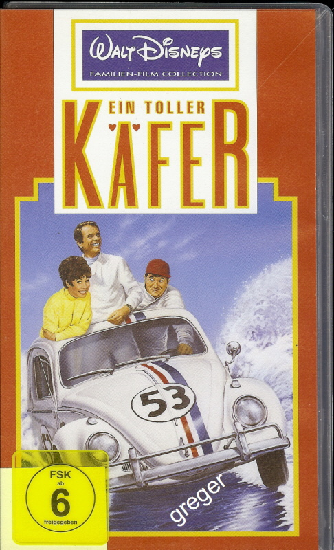 VHS Video Film-  Ein toller Käfer     52