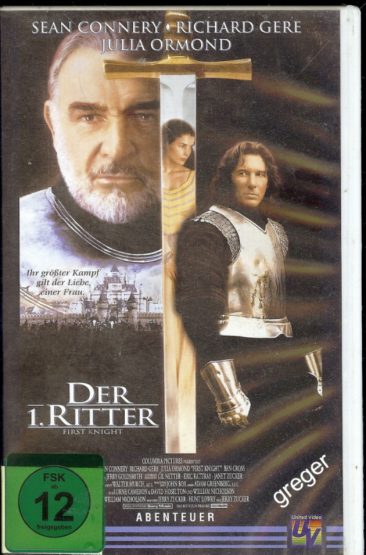 VHS Video Film-   Der 1. Ritter     54