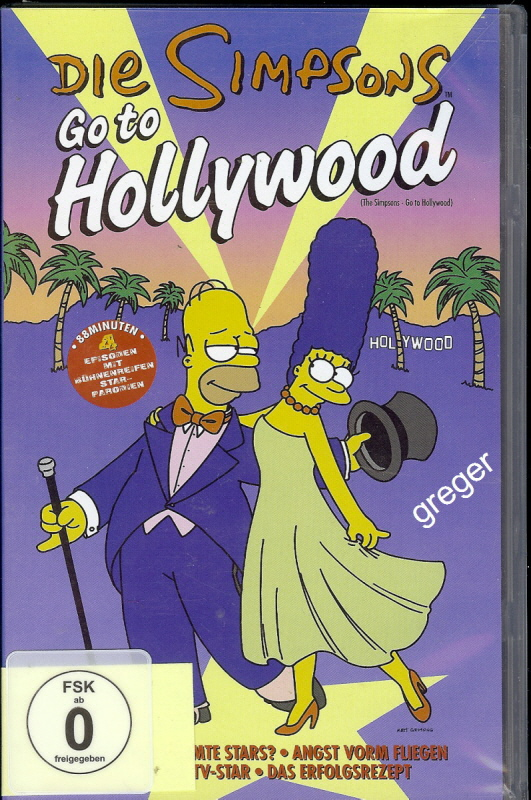 VHS Video Film-   Die Simpsons Go to Hollywood -    55