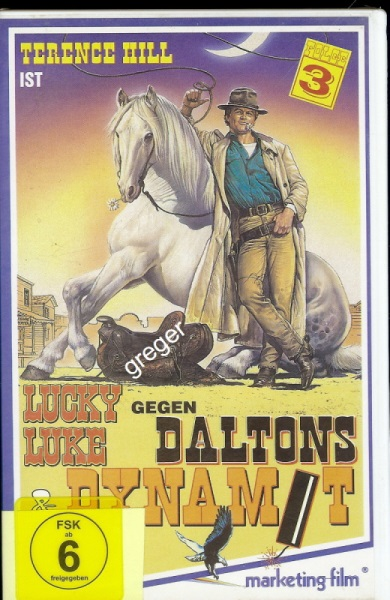 VHS Video Film-   Film Lucky Luke Gegen Daltons & Dynamit     61