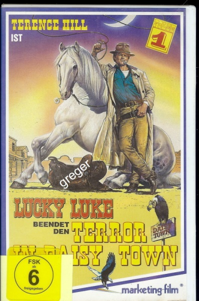 VHS Video Film-   Lucky Luke beendet den Terror in Daisy Town   62
