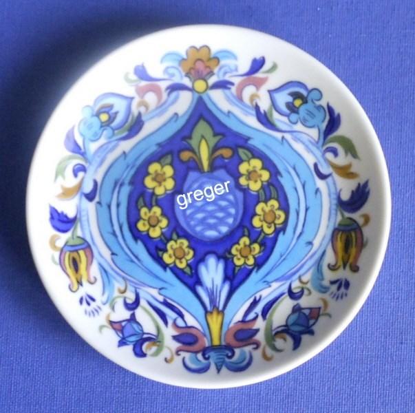 Kuchenteller von Villeroy & Boch  Izmir - altes Dekor 73 - , Stempel Schriftzug in blau