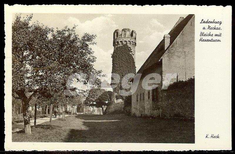 AK Deutsches Reich 1932 Ladenburg a. Neckar mit Hexenturm   -    7/3