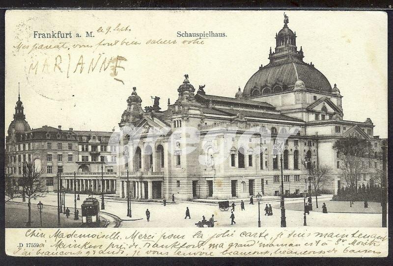 AK Deutsches Reich 1903 Frankfurt a. Main Schauspielhaus  -     7/4