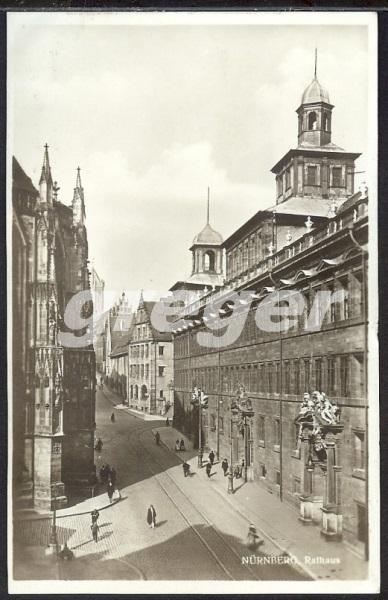 AK Deutsches Reich Nürnberg ? Rathaus - 8/24