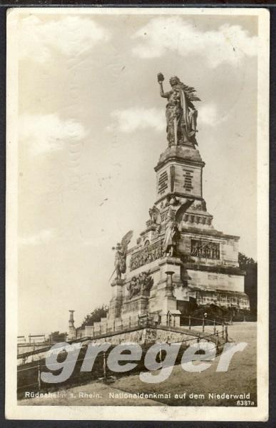 AK Deutsches Reich 1927 Rüdesheim ? Nationaldenkmal - 8/28
