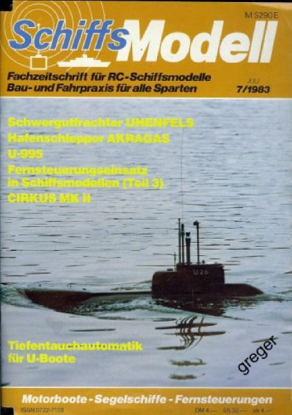 Schiffsmodell    7/83 b