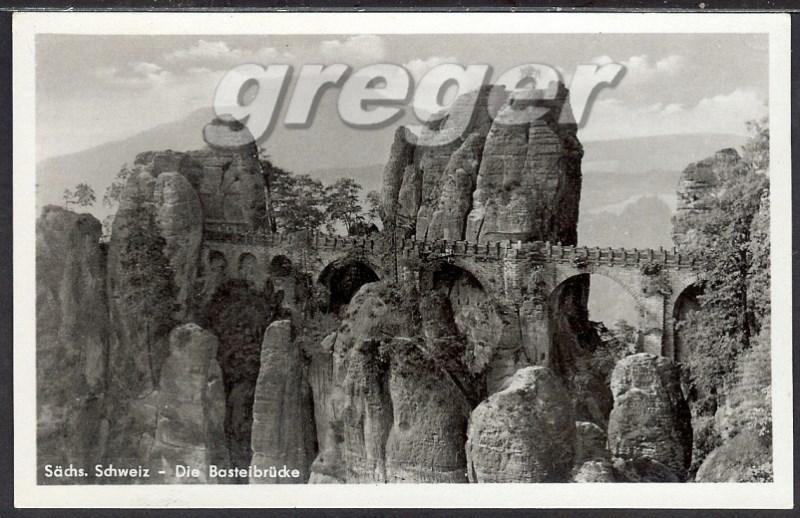 AK DDR Basteibrücke Sachs, Schwejz   14/10