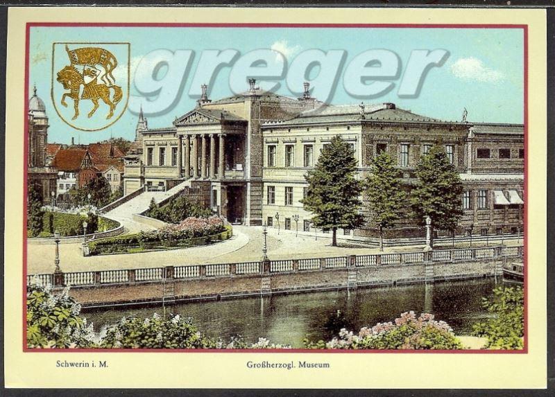 AK DDR Schwerin Großherzogl. Museum, Reproduktion einer historischen Ansichtskarte     24/48