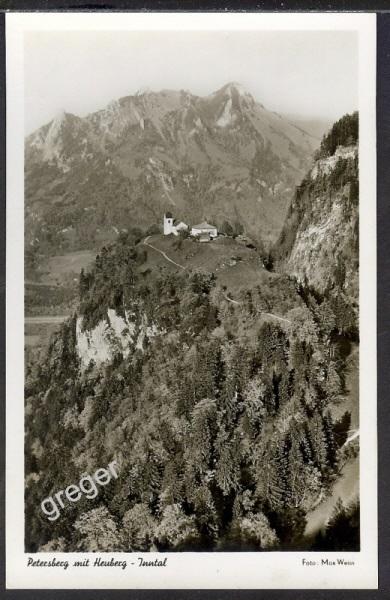 AK Deutsches Reich Petersberg mit Heuber  45/15