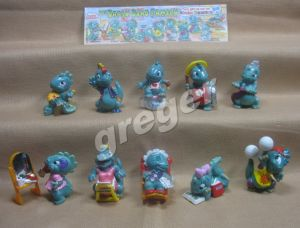 Komplettsatz   Die Dapsy Dino Family von 1997