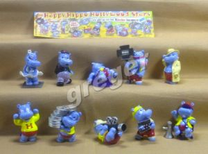 Komplettsatz   Die Happy Hippo Hollywood Stars von 1997