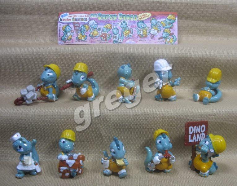 Komplettsatz   Die Dapsy Dinos von 1995