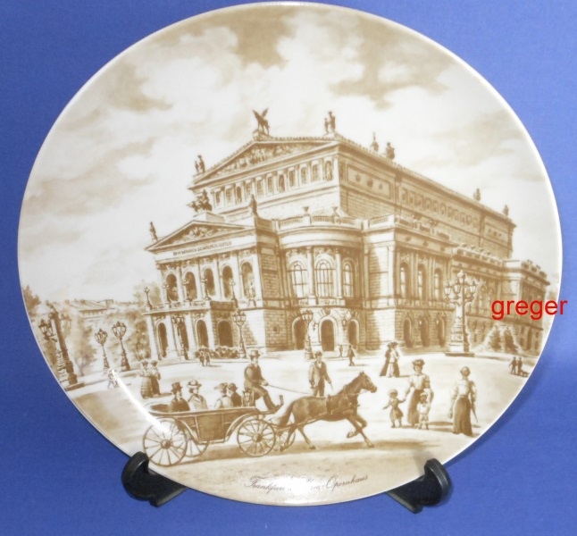 Wandteller Motiv Frankfurter Opernhaus