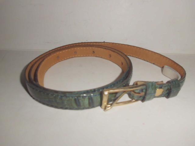 Krokodilledergürtel Farbe grün/schwarz, Länge 90cm x Breite 1,5cm, kaum benutzt