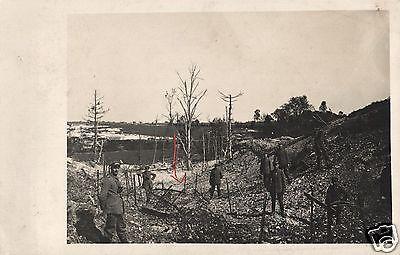 Originalfoto 9x13cm, Deutsche Stellung wird mit Drahverhau versehen
