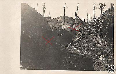 Originalfoto 9x13cm, Deutscher Schützengraben+Laufgraben, ca. 1915